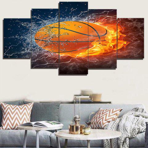 Shops Burning Football Printed Unframed Canvas Paintings