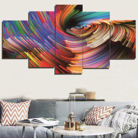 Shop Colorful Abstract Space Print Unframed Canvas Paintings - 1PC:8*20,2PCS:8*12,2PCS:8*16 INCH( NO FRAME ) COLORFUL Mobile