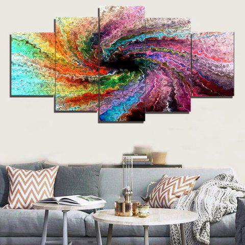 Shop Space Colorful Unframed Wall Art Painting - 1PC:8*20,2PCS:8*12,2PCS:8*16 INCH( NO FRAME ) COLORFUL Mobile