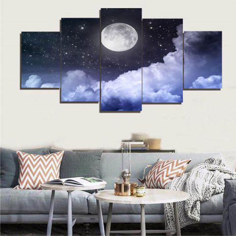 Trendy Wall Art Canvas Moon Starry Sky Painting