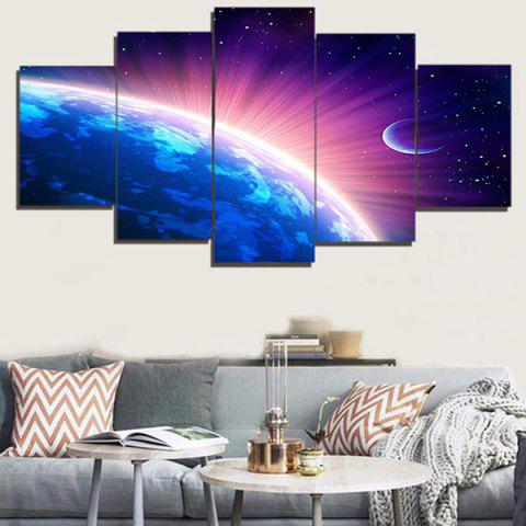 Sale Shiny Earth Print Unframed Wall Art Paintings COLORFUL 1PC:8*20,2PCS:8*12,2PCS:8*16 INCH( NO FRAME )