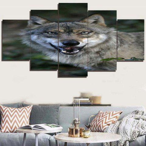 Discount Wolf Print Unframed Canvas Split Paintings
