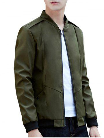 Outfit Casual Zip Up Pilot Jacket - 4XL ARMY GREEN Mobile
