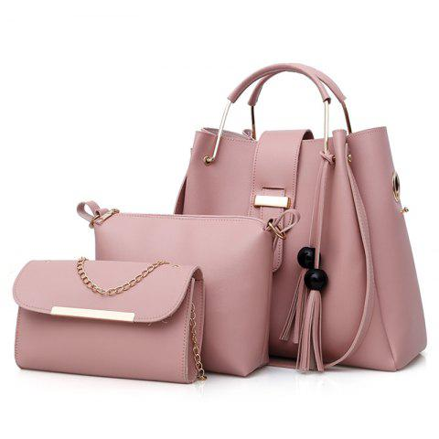 Shops 3 Pieces Tassel Faux Leather Tote Bag Set