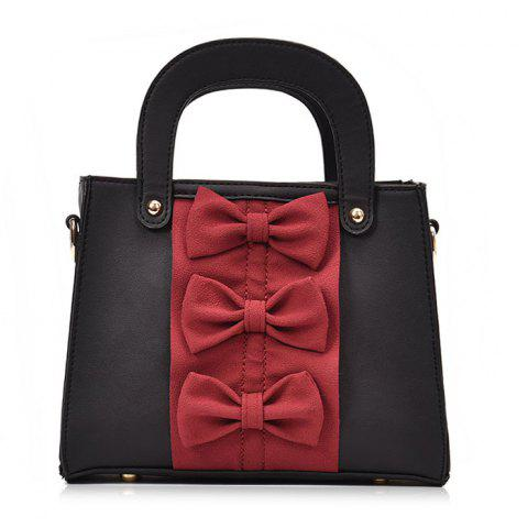 Shop Color Block Bow Handbag