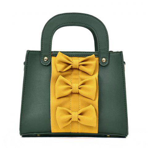 Best Color Block Bow Handbag GREEN