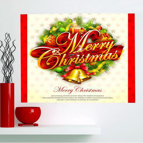 Buy Multifunction Jingle Bell Pattern Wall Sticker COLORFUL 1PC:24*35 INCH( NO FRAME )