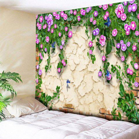 Buy Flower Print Mottled Wall Hanging Tapestry - W79 INCH * L59 INCH COLORMIX Mobile