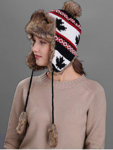 Outfit Outdoor Maple leaves Pattern Earmuff Trapper Hat