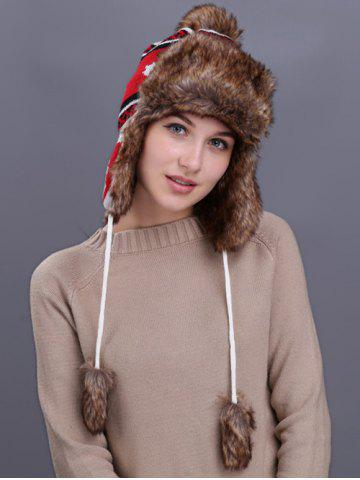 Cheap Outdoor Maple leaves Pattern Earmuff Trapper Hat