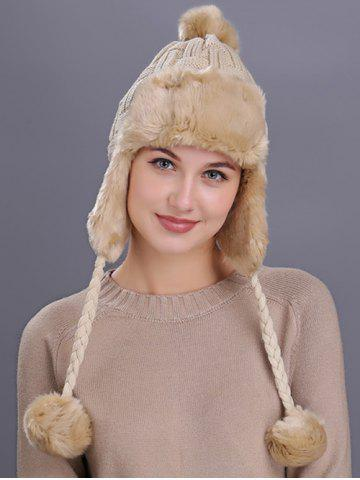 Outfit Vintage Checked Pattern Thicken Knit Trapper Hat