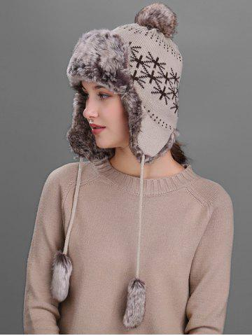 Discount Flag Pattern Thicken Knit Trapper Hat