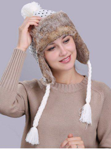 Outfits Vintage Christmas Snowflake Pattern Thicken Trapper Hat