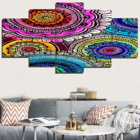 Hot Bohemian Pattern Unframed Decorative Canvas Paintings - 1PC:8*20,2PCS:8*12,2PCS:8*16 INCH( NO FRAME ) COLORFUL Mobile