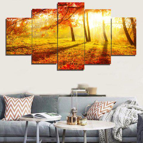 Affordable Unframed Sunshine Maple Pattern Canvas Paintings