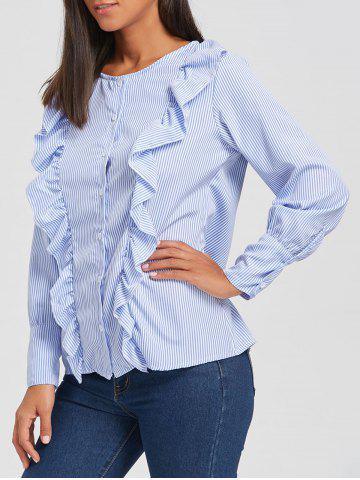 Buy Casual Ruffle Button Up Blouse