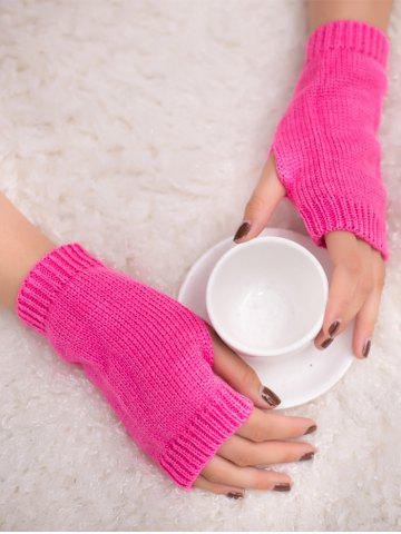 Fashion Outdoor Knit Fingerless Gloves