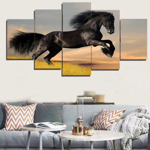 Chic Unframed Steed Print Split Canvas Paintings