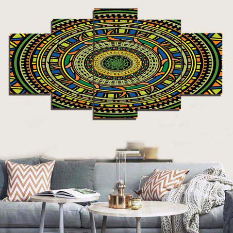 Buy Bohemian Mandala Print Unframed Canvas Paintings COLORFUL 1PC:8*20,2PCS:8*12,2PCS:8*16 INCH( NO FRAME )