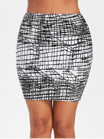 Best Line Jacquard Fitted Bandage Skirt BLACK M