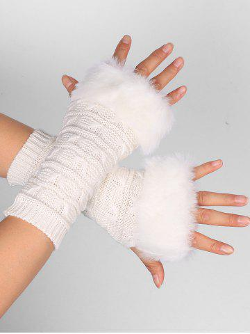 Latest Soft Fur Winter Knitted Fingerless Gloves