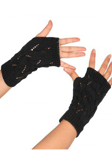Store Tree Branch Shape Hollow Out Knitted Fingerless Gloves