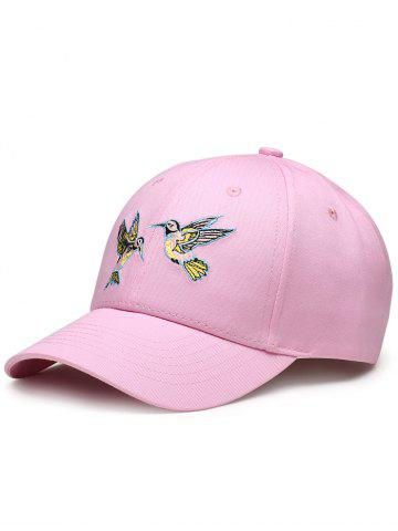 Buy Flying Bird Embroidery Decorated Baseball Hat PINK