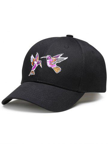 Trendy Flying Bird Embroidery Decorated Baseball Hat - BLACK  Mobile