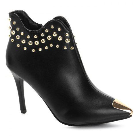 Fashion Pointed Toe Rivets Curve Boots