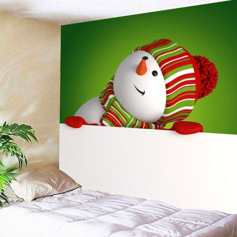 New Wall Art Snowman Print Christmas Tapestry