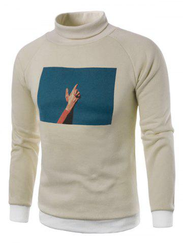 Affordable Fleece 3D Photo Print Pullover Sweatshirt