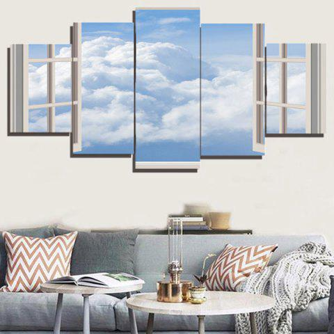 Affordable Wall Art Window Cloud Canvas Painting