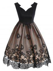 Vintage Lace Scalloped 1950 Prom Dress -