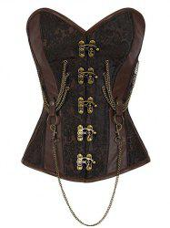 Buckle Chain Steampunk Steel Boned Lacerate Up Corset -