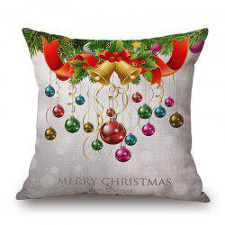 Christmas Baubles Print Decorative Linen Sofa Pillowcase - COLORMIX 45*45CM