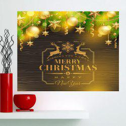 Multifunction Golden Baubles Pattern Wall Sticker - GOLDEN 1PC:24*24 INCH( NO FRAME )