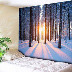 Bedroom Decor Snowscape Print Wall Tapestry - COLORMIX W59 INCH * L51 INCH