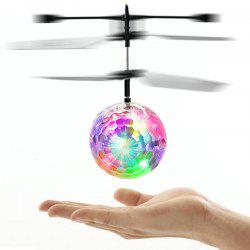 Colorful Flashing LED Disco Ball Induction Helicopter Toy -