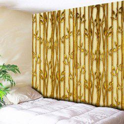 Wall Hanging Plant Printed Bedroom Tapestry - GOLDEN W59 INCH * L51 INCH