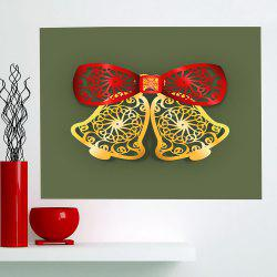 Christmas Bells Cut Print Multifunction Wall Art Painting - RED + GREEN + YELLOW 1PC:24*24 INCH( NO FRAME )