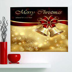 Christmas Bowknot Bells Print Multifunction Wall Art Painting - GOLDEN 1PC:24*35 INCH( NO FRAME )