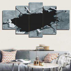 Broken Hole Printed Unframed Decorative Canvas Paintings - GRAY 1PC:8*20,2PCS:8*12,2PCS:8*16 INCH( NO FRAME )