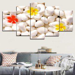 Cobblestones Flowers Pattern Unframed Split Canvas Paintings -