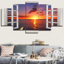 Outside The Window Sea View Paintings - COLORFUL 1PC:8*20,2PCS:8*12,2PCS:8*16 INCH( NO FRAME )