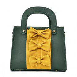 Color Block Bow Handbag - GREEN