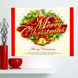 Multifunction Jingle Bell Pattern Wall Sticker - COLORFUL 1PC:24*35 INCH( NO FRAME )