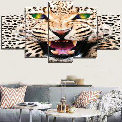 Unframed 3D Leopard Printed Canvas Paintings -
