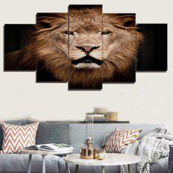 Unframed 3D Lion Printed Canvas Paintings -