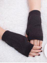 Outdoor Knit Fingerless Gloves -