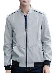 Casual Zip Up Pilot Jacket -